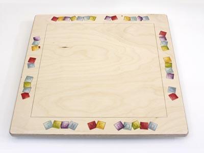 A Scrabble Board Turntable