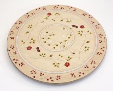 Wild Rose Lazy Susan