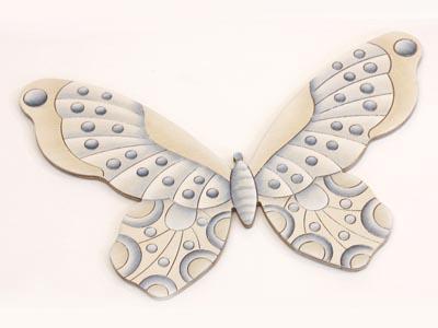 Medium Blue and White Butterfly