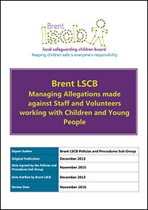 Brent Local Safeguarding Children Board Concerned About